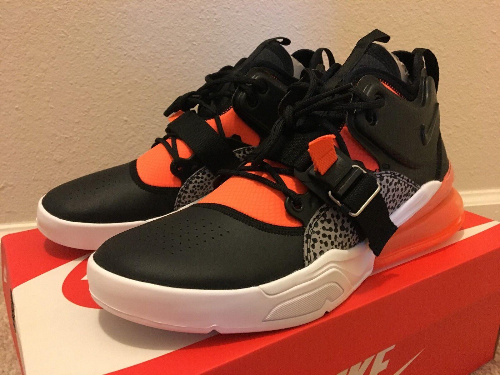 Nike Air Force 270 Nero Orange Uomo Basketball Shoes US Size 10 RARE