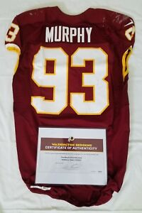 reputable site b5348 6a2af Details about #93 Trent Murphy of Redskins NFL Game Used & Unwashed Jersey  vs. Giants W\COA