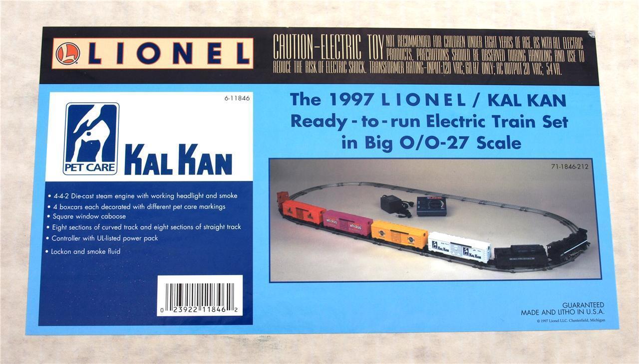Vintage 1997 Lionel 6-11846 Kal Kan Pet Care Train Set O O-27 Scale - NIB