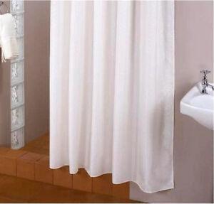 Cortina-de-ducha-tejido-blanco-ANCHO-Y-Altura-a-seleccionar-incluye-anillas