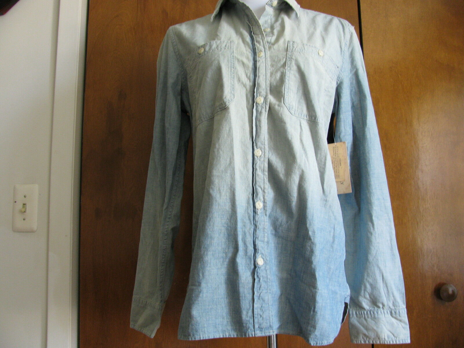 Ralph Laure Denim & Supply damen's jean shirt Größe Small NWT