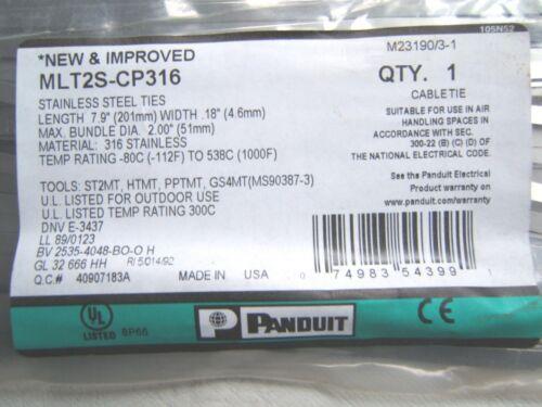 """1x8 /""""Panduit 0utdo0r câble en acier inoxydable cravate cabletie la chaleur d/'échappement wrap 4.6 mm"""
