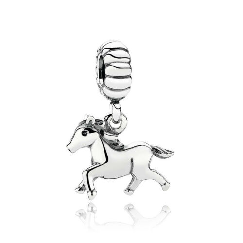 2PCS Animal Zodiac Horse Pendant Charm Alloy Beads fit European Bracelet