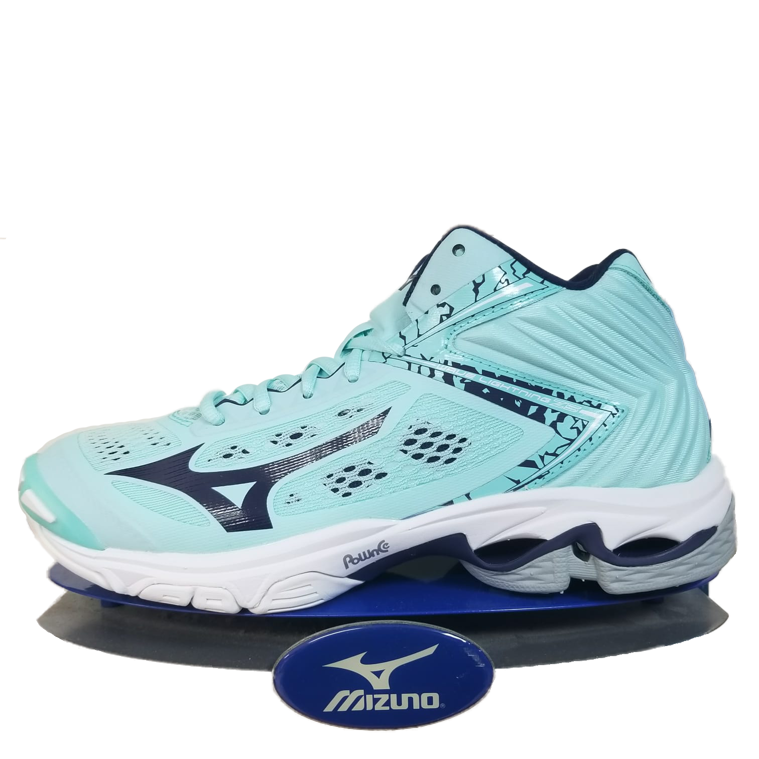 Mizuno Wave lumièrening Z5 Mid Cut Homme Taille Unisexe Chaussures pour femme Turquoise