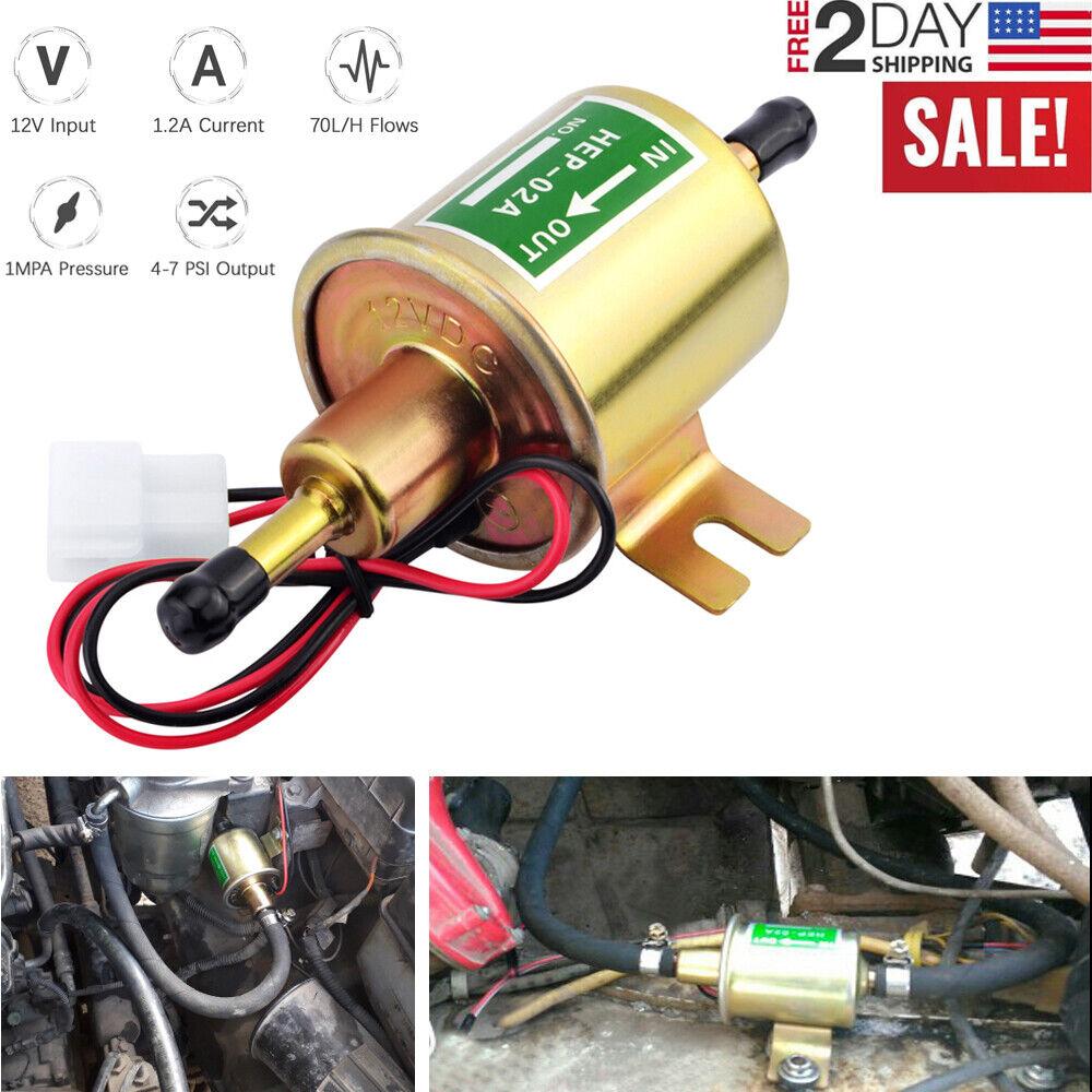12v 3 5psi Low Pressure Gas Gasoline Diesel Electronic Inline Fuel Pump Replace For Sale Online Ebay