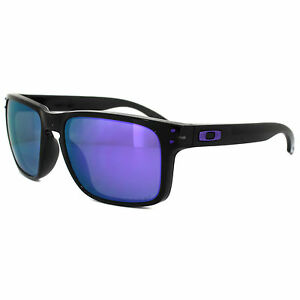 0140d22884 Oakley Holbrook OO9102-67 Black Ink   Violet Iridium Polarized Sunglasses