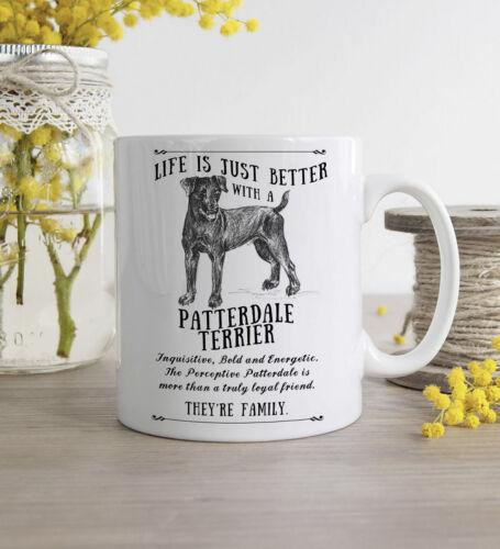 Patterdale Terrier Dog Mug ~ Personalised Custom Gift ~ Vintage Style