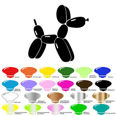 Appliances and Cars Balloon Dog Decal Sticker for Walls