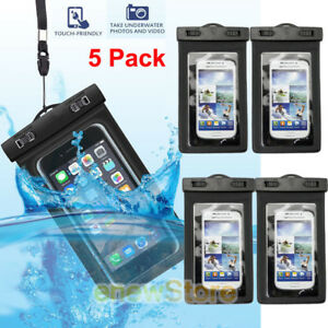 san francisco f0d55 eca86 Details about 5 PACK - Waterproof Universal Underwater iPhone Cell Phone  DRY BAG Pouch Case