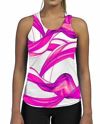 Pink Puff Womens Gym Tank Top Vest Fitness Workout Gym Smoke Bright Pattern Fabriken Und Minen