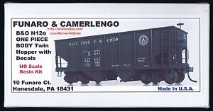 Funaro-F-amp-C-8330-B-amp-O-BALTIMORE-amp-OHIO-Railroad-N12G-HOPPER-Twin-1-PIECE-Body-Kit