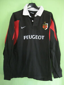 Frugal Maillot Rugby Stade Toulousain Peugeot Toulouse St Nike Vintage Noir Jersey - M