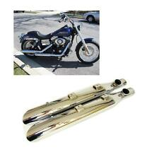 80447-03 Marmitte terminali scarico Screamin Eagle Slash Harley Softail cromati