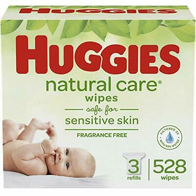 Total 224 Wipes Huggies Baby Wipes 56Ct Refill Soft Skin W//Vitamin E Pack of 4