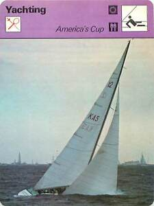 FICHE-CARD-America-039-s-Cup-Columbia-1871-Vigilant-1893-Resolute-Voilier-Yacht-70s