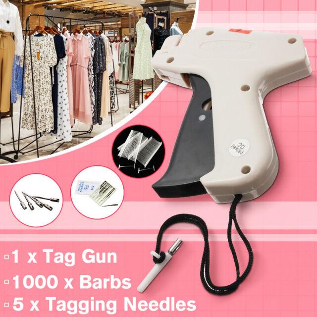 "Garment Price Label Tag Tagging Gun Plus 1000  3/"" BLACK Barbs"