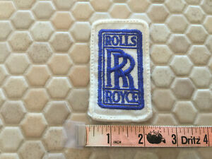 ROLLS ROYCE CLOTH PATCH OFFICIAL TEXT LOGO circa 1970's NEW.