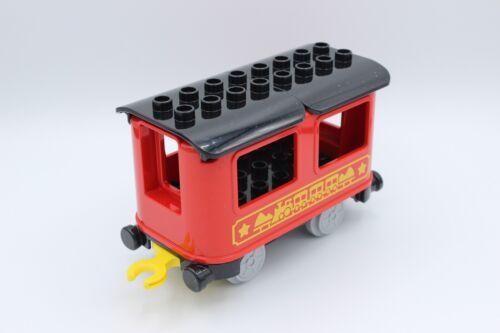 LEGO Duplo Eisenbahn Personenwaggon groß rot//schwarz aus Set 10874 NEU