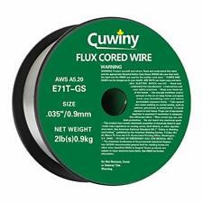 Cuwiny Gasless Flux Core Mig Wire Mild Steel E71tgs035 Diameter 2 Pound Spoo