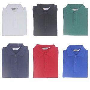 5a45a48102b5 Kids Boys Girls Polo T Shirt School Uniform Short Sleeve White Red ...