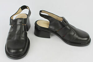 Brillant Chaussures Sandales San Marina Paris Cuir Noir T 36 Ttbe Ventes Bon Marché