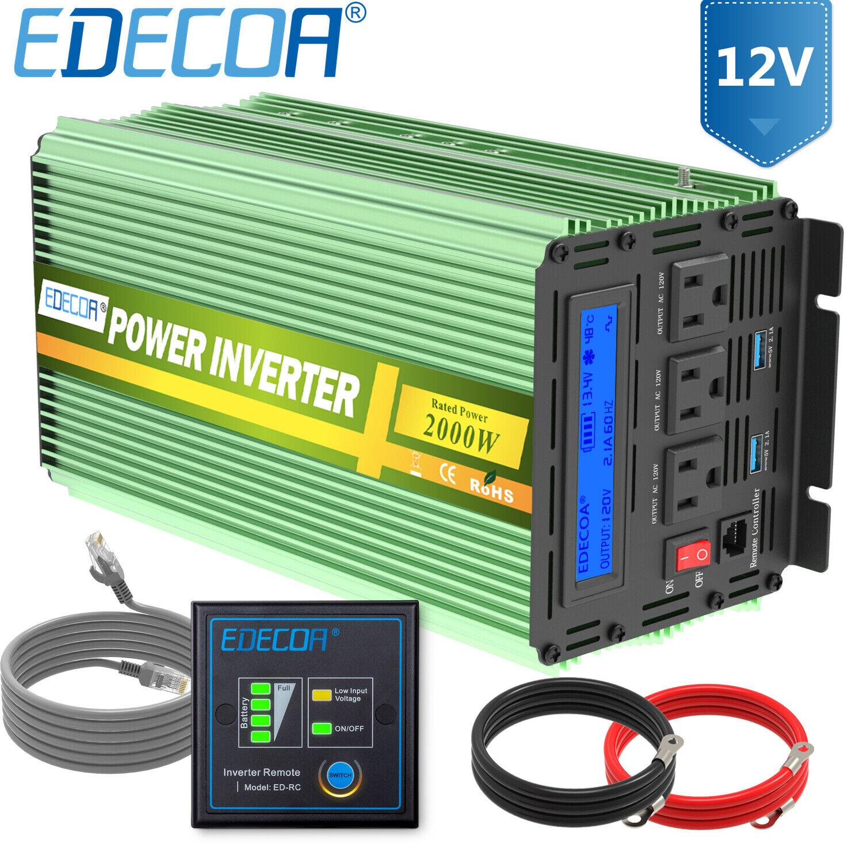 Upgrade Version 20000W PEAK//5000W Spannungswandler Reiner//SINUS Wechselrichter Power inverter dc 12V//ac 230V,80A Ladefunktion,UPS