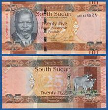 Sur de sudán/southsudan 25 pounds (2011) UNC p. 8