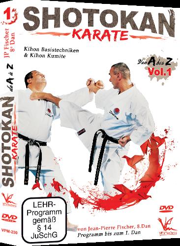 Shotokan Karate von A bis Z Vol.1 DVD Programm bis zum 1.Dan Jean Pierre Fischer