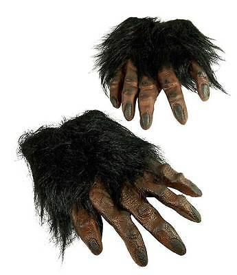 ADULT BROWN WEREWOLF LARP APE CHIMP WOLF GORILLA FURRY HANDS  COSTUME GLOVES NEW