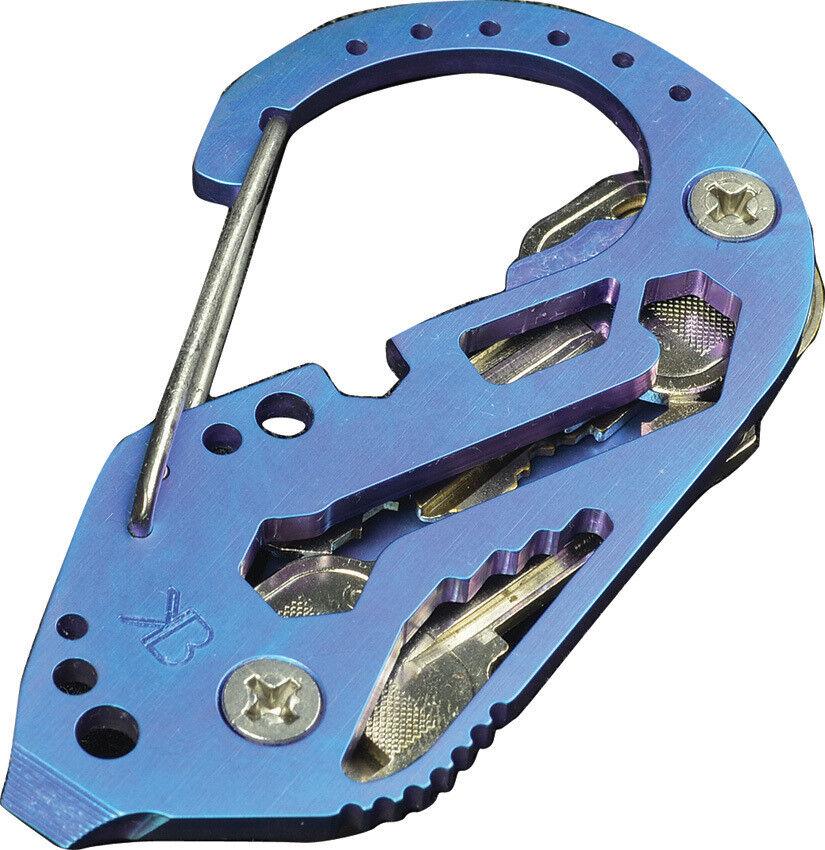 KeyBiner Key Biner Titanium bluee  TITANIUM ANNO blueE
