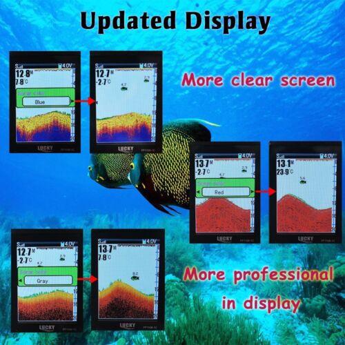 Lucky 45M Wireless Sonar Sensor Rechargeable Fishfinder w// Attractive Lamp 90°