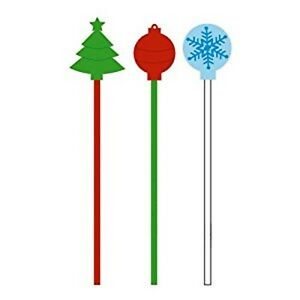 CHRISTMAS** Pack of 40 - Hard Reusable Drink Stirrers! 73525956015 ...