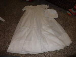PETIT AMI 12M 12 MONTHS GORGEOUS LONG WHITE DRESS W BONNET CHRISTENING BAPTISM