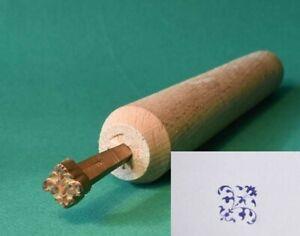 materiel reliure dorure, Fer à dorer, fleuron, en bronze.