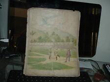 1890's Baseball Scrapbook Page Kinney Bros Tobacco Die Cuts National game
