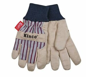 KINCO 1927KW-Y Child's Lined Ultra Suede Cold Weather Glove with Knit Wrist, Age
