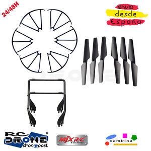 Set-Negro-Drone-MJX-X600-X601H-6-axis-Helice-Tren-Aterrizaje-Anillo-proteccion