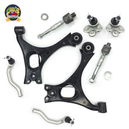 8 Pc For Honda Civic 1.8L Engine Control Arms /& Tie Rod Ends /& Lower Ball Joints
