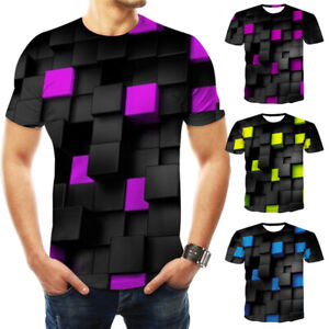 Men-Funny-Short-Sleeve-Tee-Printed-Shirt-Tops-Casual-Colorful-3D-T-Shirt-Summer