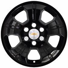 "4 Black 2014-2017 Silverado 1500 18"" Wheel Skins Hub Caps Alloy Rim Full Covers"