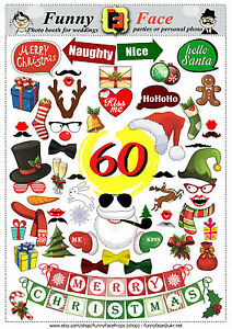 image is loading 60 christmas new year photo booth props diy