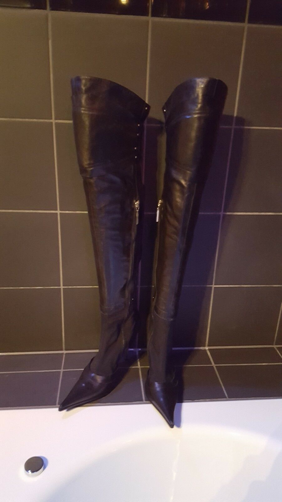 Overknee Stiefel Gianmarco Lorenzi Echt Leder Neuwertig Gr. 39