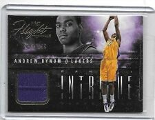 ANDREW BYNUM 2013-14 PANINI INTRIGUE FIRST FLIGHT GAME USED JERSEY#/199