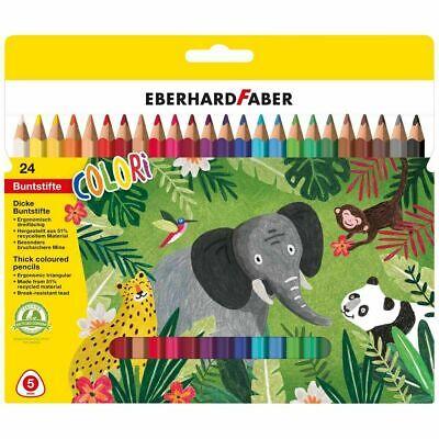24 Buntstifte dreiflächige Farbstifte EberhardFaber Sorgenfresser EFAB-46302