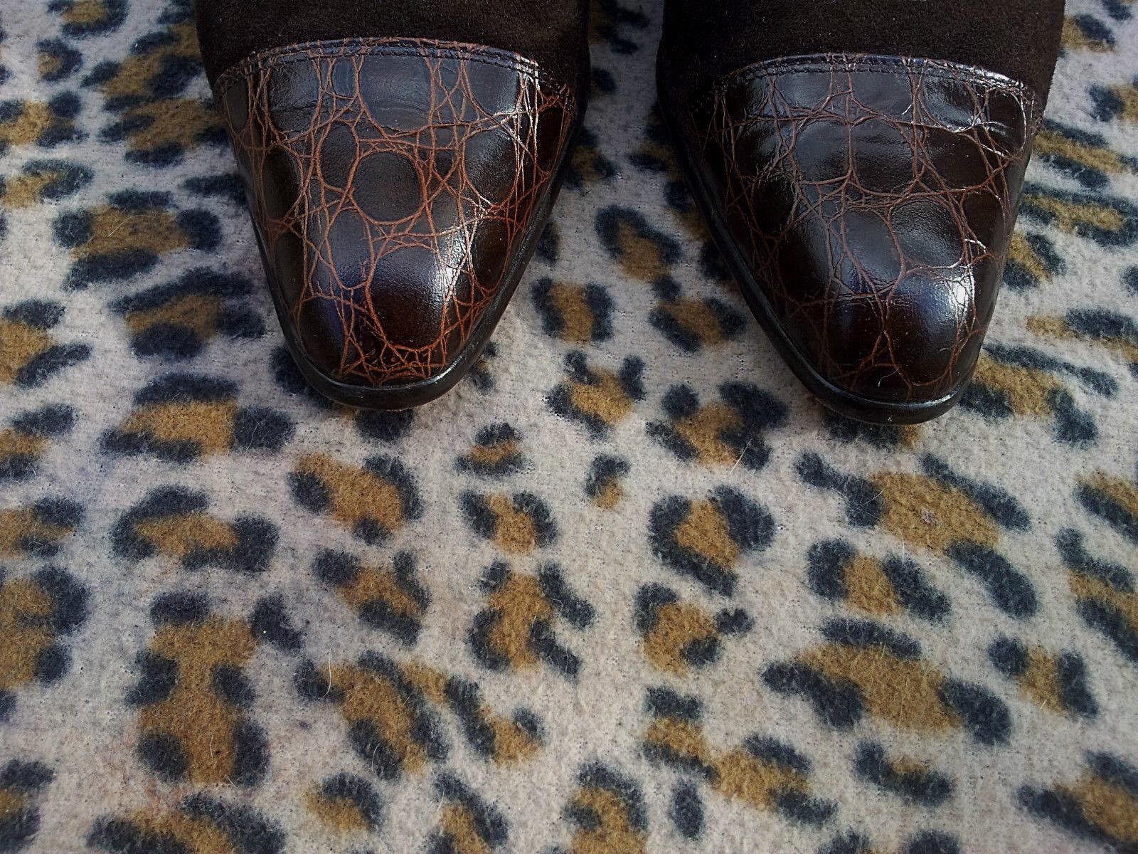 Vintage Martina braun in Suede Leather schuhe made in braun  UK Größe 6 EU 39 85bb01
