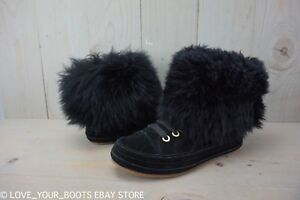 Image is loading UGG-ANTOINE-FUR-SNEAKER-MONGOLIAN-FLUFFY-WOMENS-BOOTS-
