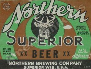 Northern Superior Beer New Metal Sign: Northern Brewing - Superior, Wisconsin