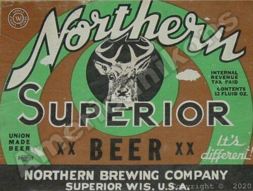 Northern Superior Beer New Metal Sign Superior Northern Brewing Wisconsin