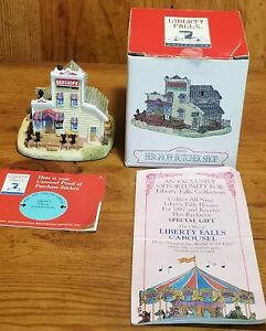 Vintage-Liberty-Falls-Americana-Butcher-Shop-Village-Western-Figurine-AH131