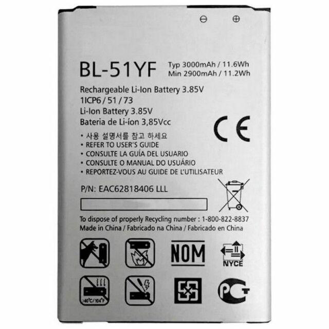 Batteria LG per G4 BL-51YF Originale H815 H818 H819 3000mAh Pila Nuova in Bulk